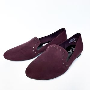 Brash Dilly Stud Smoking Loafer in purple size 8